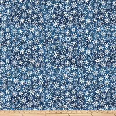 O Christmas Tree Large Snowflakes Navy