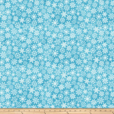 O Christmas Tree Large Snowflakes Turquoise