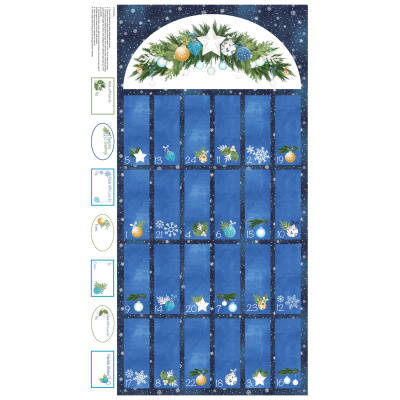 "O Christmas Tree Calendar 24"" Panel Navy"