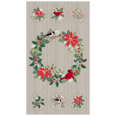 "Swedish Christmas 43"" Panel Dark Grey"