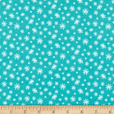 Yeti For Winter Snowflakes Flannel Dark Turquoise