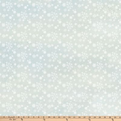 Enchanted Forest Snowflakes Pale Blue