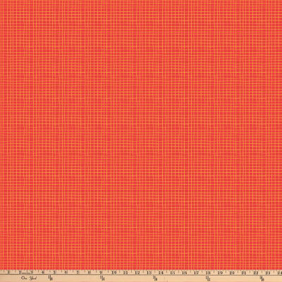 Northcott Alphabet Soup Grid Lines Red