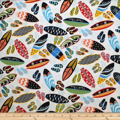 Trans-Pacific Textiles Surfer's Closet White