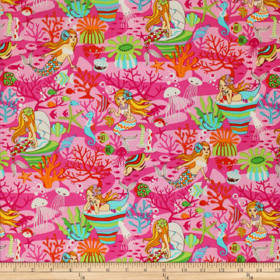 Trans-Pacific Textiles Anime Under the Sea Pink