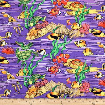 Trans-Pacific Textiles Hanauma Bay Purple