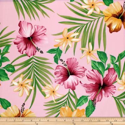 Trans-Pacific Textiles Tropical Flowers Wall Pink