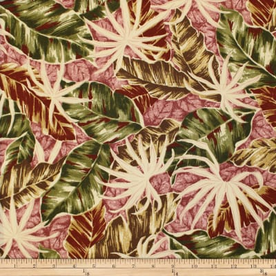 Trans-Pacific Textiles Fall Leaves Rose