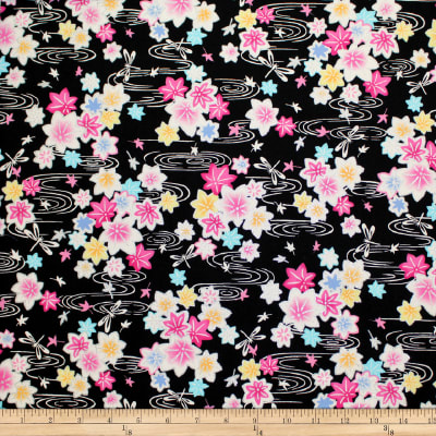 Trans-Pacific Textiles Asian Glitter Kaede Black