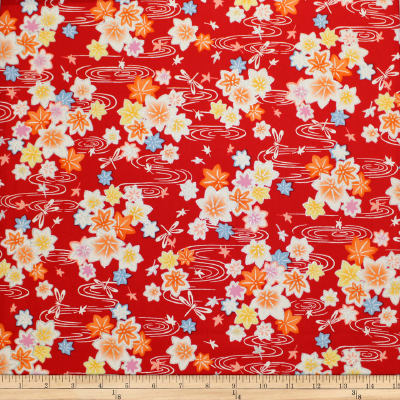 Trans-Pacific Textiles Asian Glitter Kaede Red