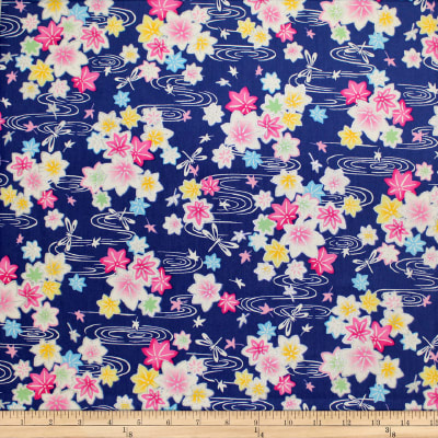 Trans-Pacific Textiles Asian Glitter Kaede Royal