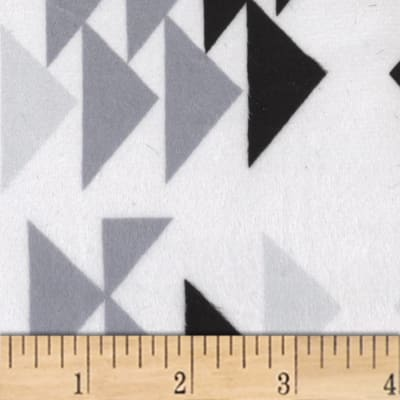 Michael Miller Minky Geo Group Triangles Black