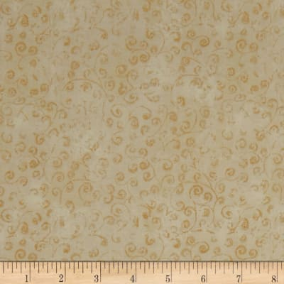 QT Fabrics Basics Quilting Temptations Curly Cue Blender Vanilla Cream