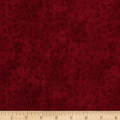 QT Fabrics Basics Quilting Temptations Curly Cue Blender Crimson