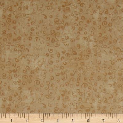 QT Fabrics Basics Quilting Temptations Curly Cue Blender Straw