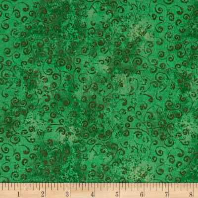 QT Fabrics Basics Quilting Temptations Curly Cue Blender Shamrock