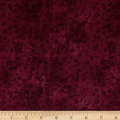 QT Fabrics Basics Quilting Temptations Curly Cue Blender Merlot