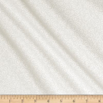 QT Fabrics Basics Quilting Illusions Curly Cue Blender White On White