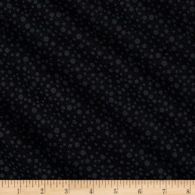 QT Fabrics Basics Quilting Illusions Dots Blender Black On Black