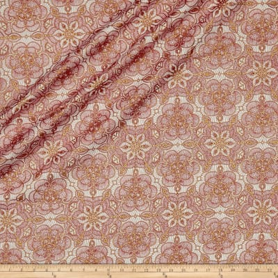 QT Fabrics Basics Metals Leaf Vine Blender Metallic Cream/Gold