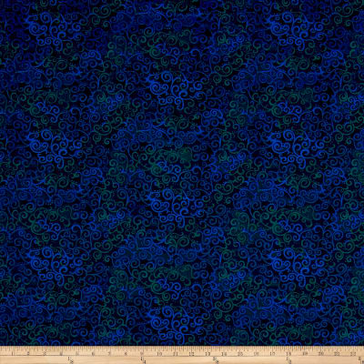QT Fabrics Basics Ombre Scroll Blender Navy