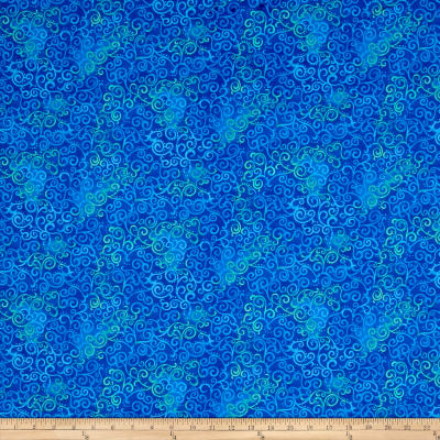 QT Fabrics Basics Ombre Scroll Blender Royal