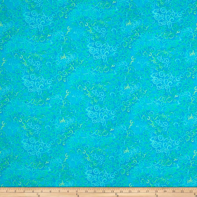 QT Fabrics Basics Ombre Scroll Blender Marine