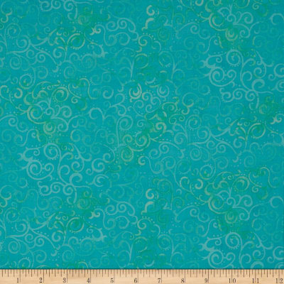 QT Fabrics Basics Ombre Scroll Blender Aqua