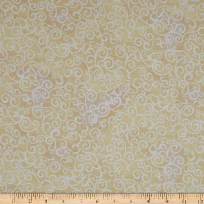 QT Fabrics Basics Ombre Scroll Blender Ecru
