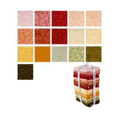 QT Fabrics Harmony Flannel 16 Pcs. Fat Quarter Bundle Multi