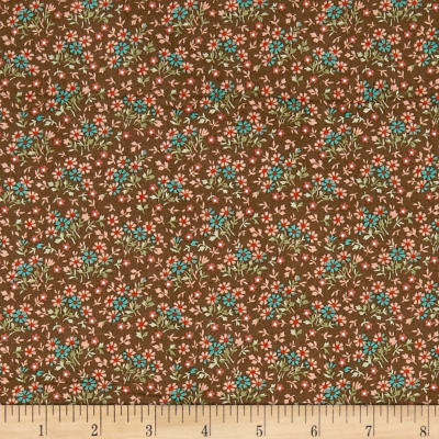 QT Fabrics Antiquities Bethel Packed Mini Floral Brown
