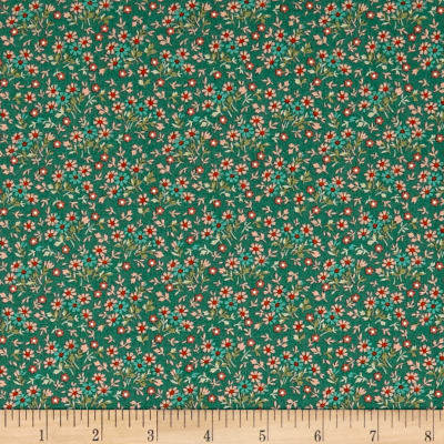 QT Fabrics Antiquities Bethel Packed Mini Floral Teal