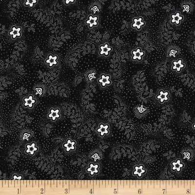 QT Fabrics Antiquities Colebrook Floral & Leaf Toss Black