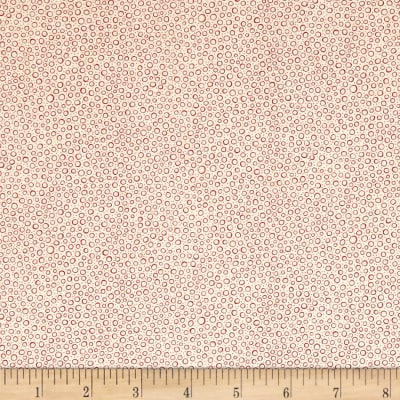 QT Fabrics Antiquities Colebrook Mini Dot Cream/Red