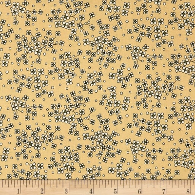 QT Fabrics Antiquities Stafford Mini Floral Light Gold