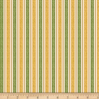 Wilmington Feline Fine Stripes Gold/Green