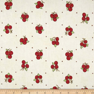 Riverwoods Vintage Vogue Laundry Cherries White