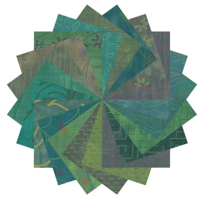 "Fabric.com Rainforest 2.5"" Square Precut Multi - Exclusive"