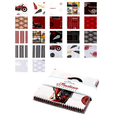 Indian Motorcycle 5 Inch Stackers, 42 Pcs.