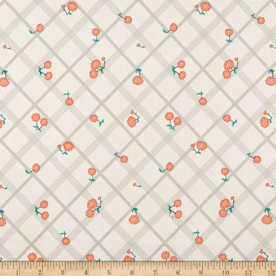 Penny Rose Calico Crow Plaid Cream