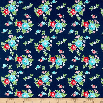 Riley Blake Seaside Floral Navy