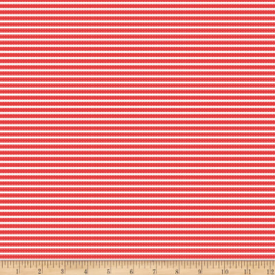 Riley Blake Vintage Adventure Stripe Red