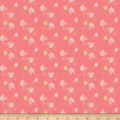 Riley Blake Winter Tales Gift Coral