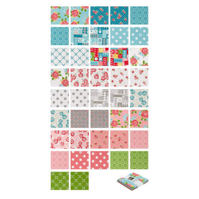 "Riley Blake Hello Lovely 5"" Stackers 42 Pcs. Multi"