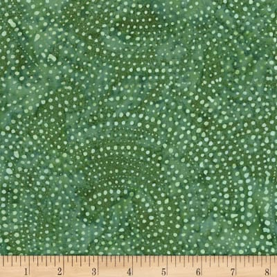 Timeless Treasures Tonga Batik Color Wheel Forest Dotty Spiral Fern