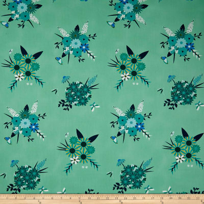 Art Gallery Loved To Pieces Pieced Bunches Cool Aquamarine