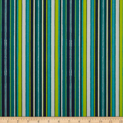 Art Gallery Loved To Pieces Striped Flow Marine Teal