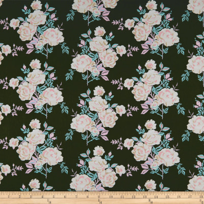 Art Gallery Fabrics A Rose is a Rose Forever Army Green