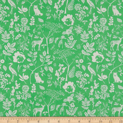 Art Gallery Fabrics Flora and Fauna Hidden Green