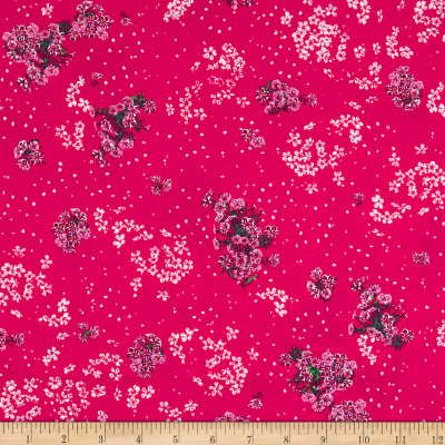 Art Gallery Decadence Beaded Posy Luster Ruby Pink